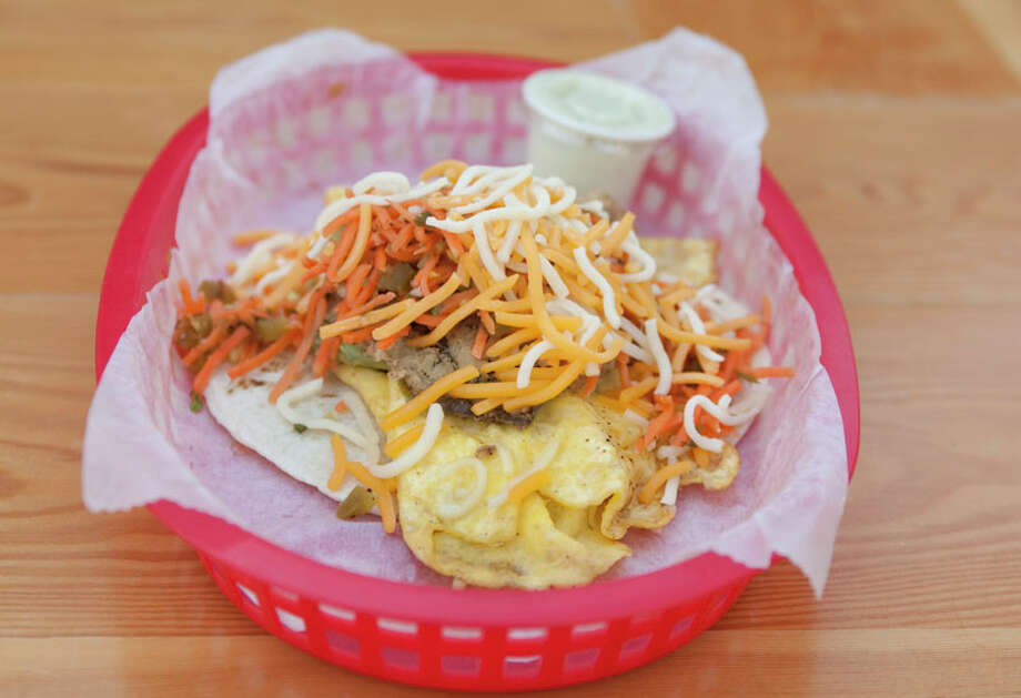 A Dirty Sanchez is is served at Torchy's Tacos-River Oaks. Photo: J. Patric Schneider, For The Chronicle / Houston Chronicle