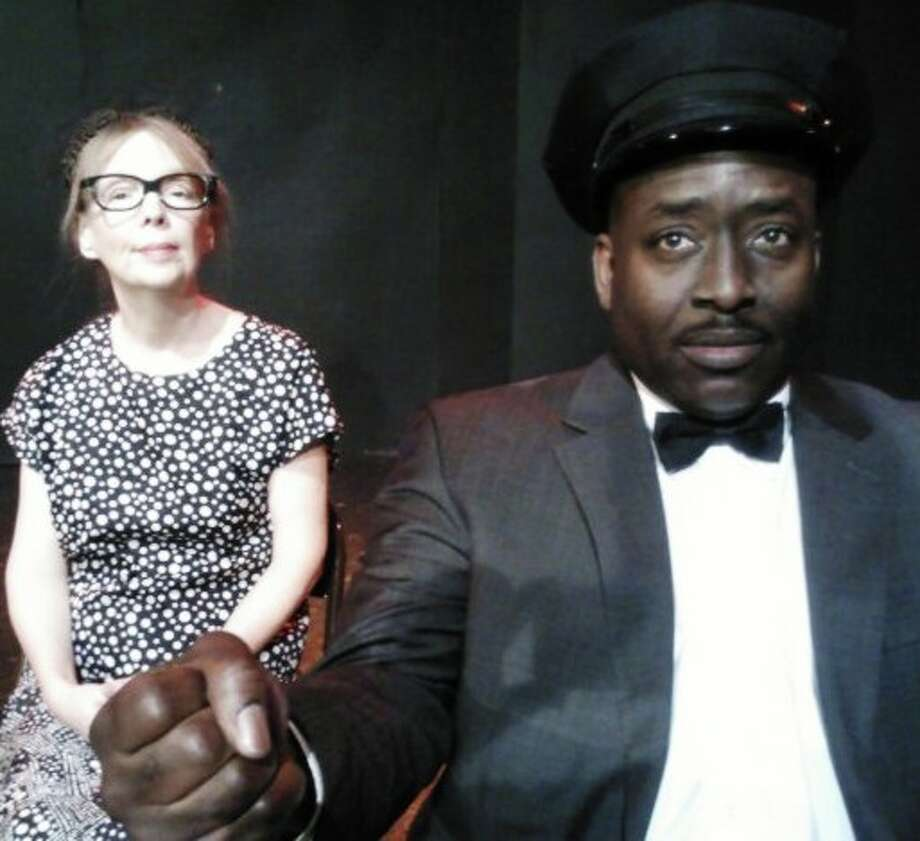 "Deborah Basham-Burns (from left) and Keith Wilson appear in ""Driving Miss Daisy"" at the Rose Theatre Company. Courtesy Rose Theatre Company."