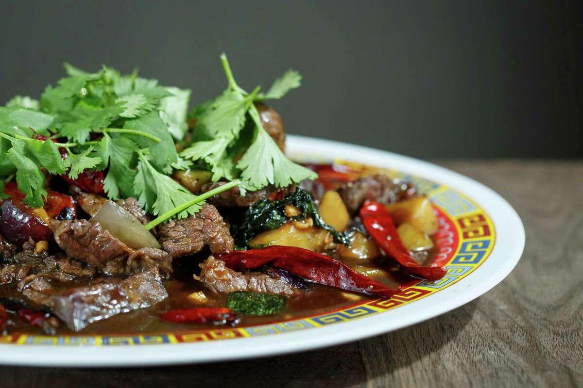 Mongolian Style Wagyu Beef, at Chris Shepherd's restaurant Underbelly.