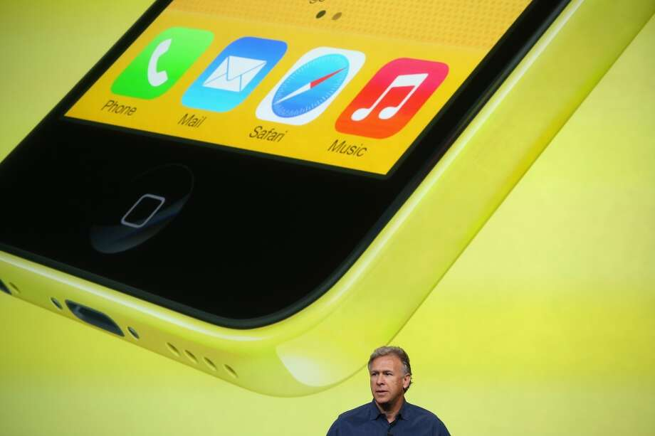 Apple Senior Vice President of Worldwide Marketing at Phil Schiller speaks about the new iPhone 5C during an Apple product announcement at the Apple campus on September 10, 2013 in Cupertino, California. The company launched the new iPhone 5C model that will run iOS 7  is made from hard-coated polycarbonate and comes in various colors. Photo: Justin Sullivan, Getty Images