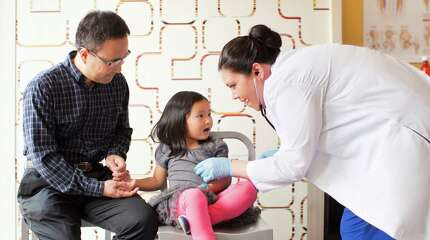 Father attends daughter's doctor visit