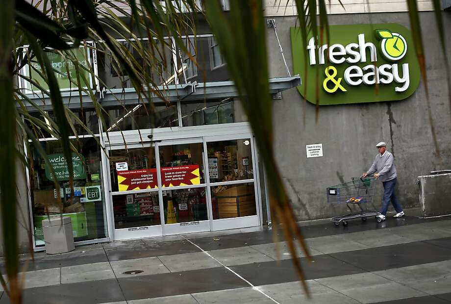 The purchase of the Fresh & Easy chain by a private-equity firm will mean this store in San Francisco's Bayview neighborhood will close, as will all five of the Fresh & Easy stores in Sacramento and at least one in San Jose. Photo: Sarah Rice, Special To The Chronicle