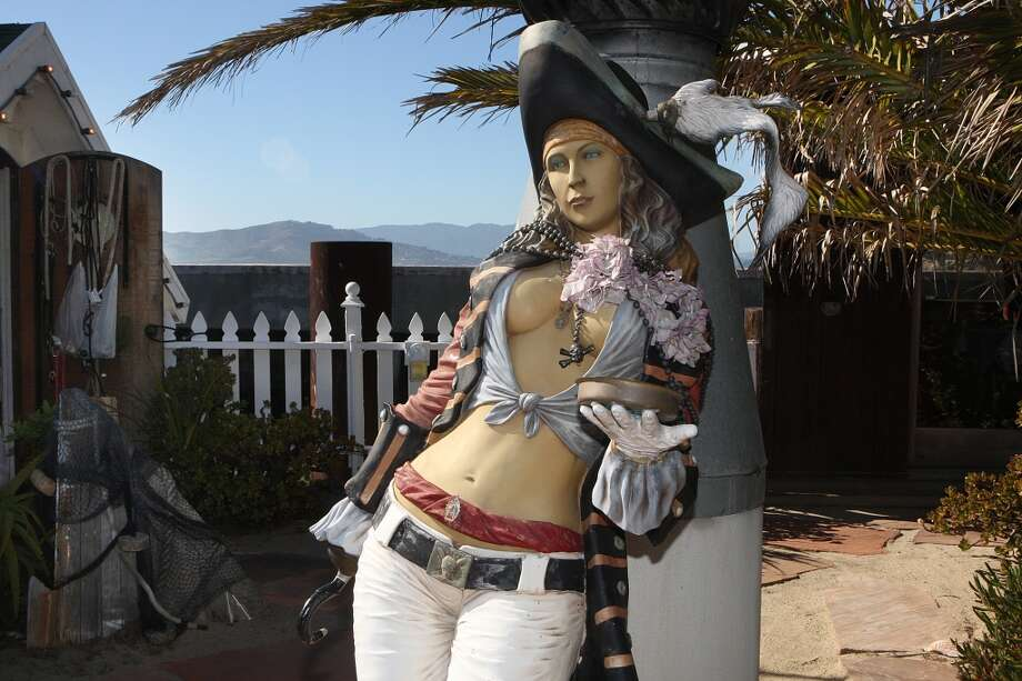 A pirate woman statue seen at Forbes Island. Photo: Liz Hafalia, The Chronicle