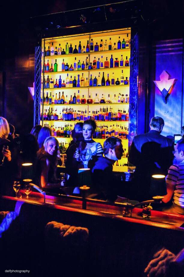 The bar scene at the Rojas Agency Launch party at the Clift Hotel. Photo: Delfphotography