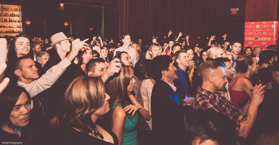 The crowd moves to DJ Dirty Vegas at the Rojas Agency launch party at the Clift Hotel. Photo: Delfphotography