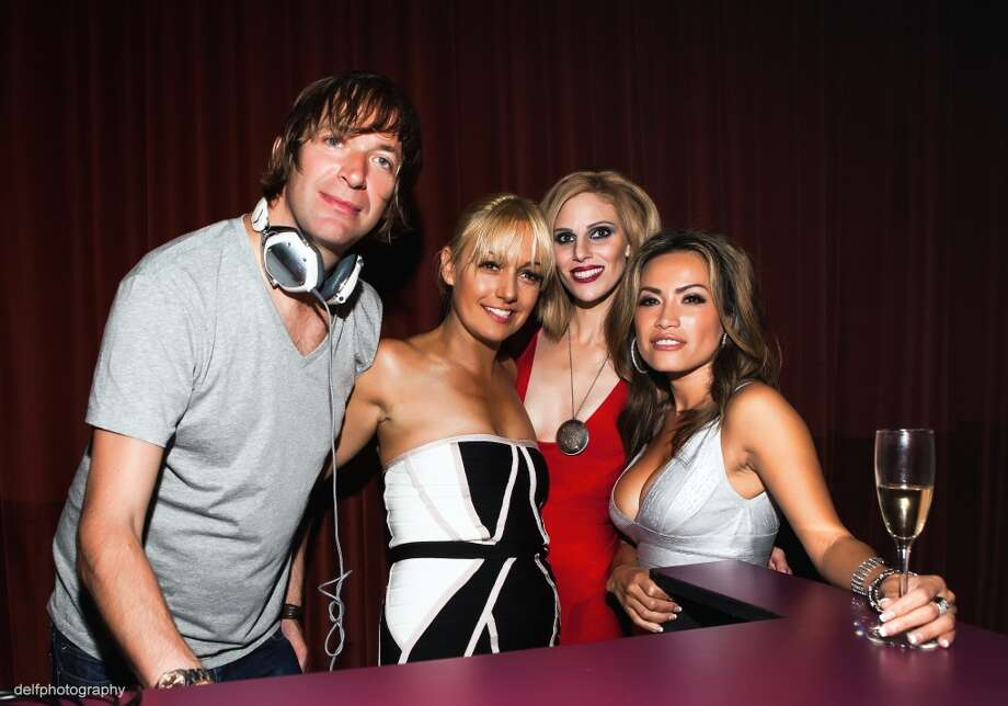 Dirty Vegas, Kelly Rojas, Michelle Grey and Mimi Tran at the Rojas Agency Launch at the Clift Hotel. Photo: Delfphotography