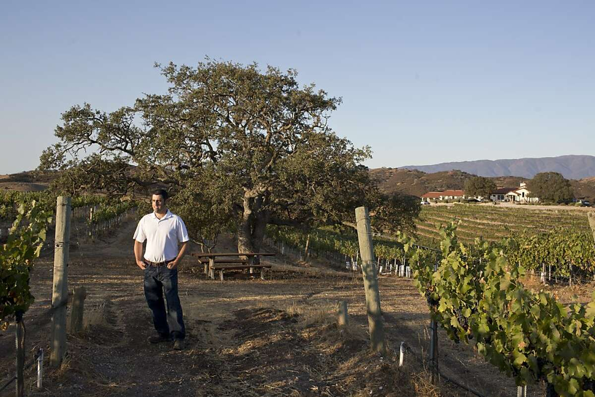 BIll Brousseau of Brousseau Vineyards at sunrise near Soledad, Calif., Wednesday, September 4, 2013.