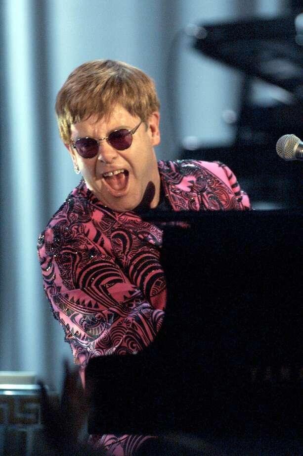 Elton John, 2000, in Beaumont at Lamar University's Montagne Center   Erin Mulvaney Photo: Dave Hogan, Getty Images