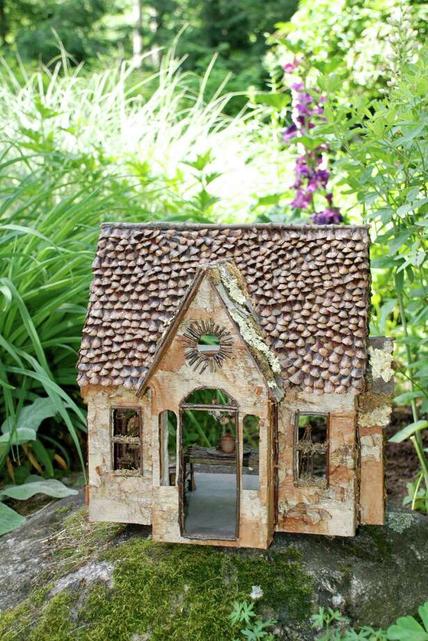 The Birdsong Flower Show takes place Thursday, Oct. 3, and Friday, Oct. 4 at the Darien Community Association and features Fairy Houses, which are whimsical structures made of twigs, leaves, nuts or shells. Photo: Contributed