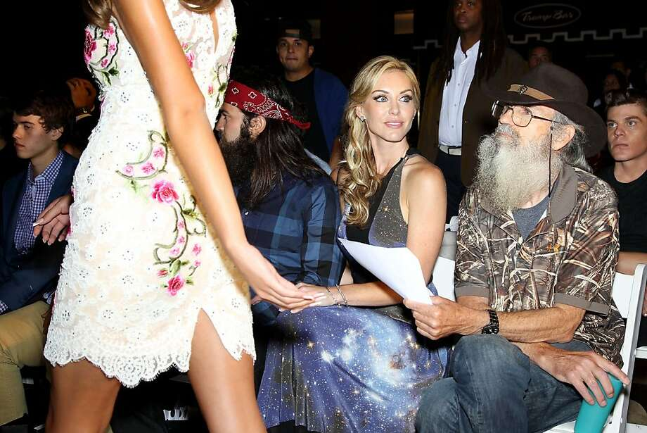 "When are they going to show the bib overalls? Even the stars of ""Duck Dynasty"" are fascinated by haute 