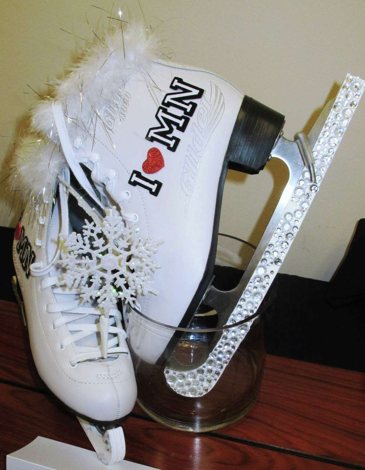 The shoes to be worn in the 2014 Miss America pageant's