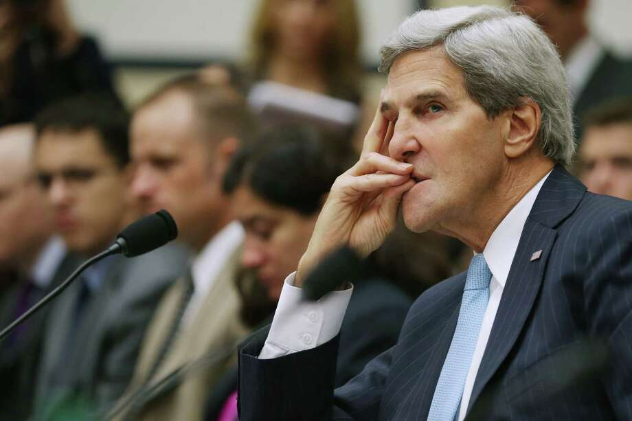 Secretary of State John Kerry suggested that the United States would halt plans for a military strike against Syria if that country turned over its chemical weapons to the international community. Photo: Chip Somodevilla, Getty Images / 2013 Getty Images