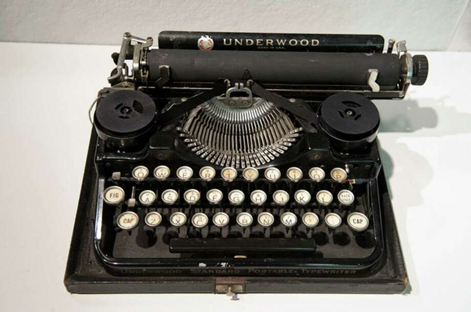"Ernest Hemingway's 1929 Underwood Standard typewriter is  in the ""Celebrity Type"" exhibit. Manson Whitlock spent half a century fixing typewriters. Photo: Brooks Canaday / Associated Press"