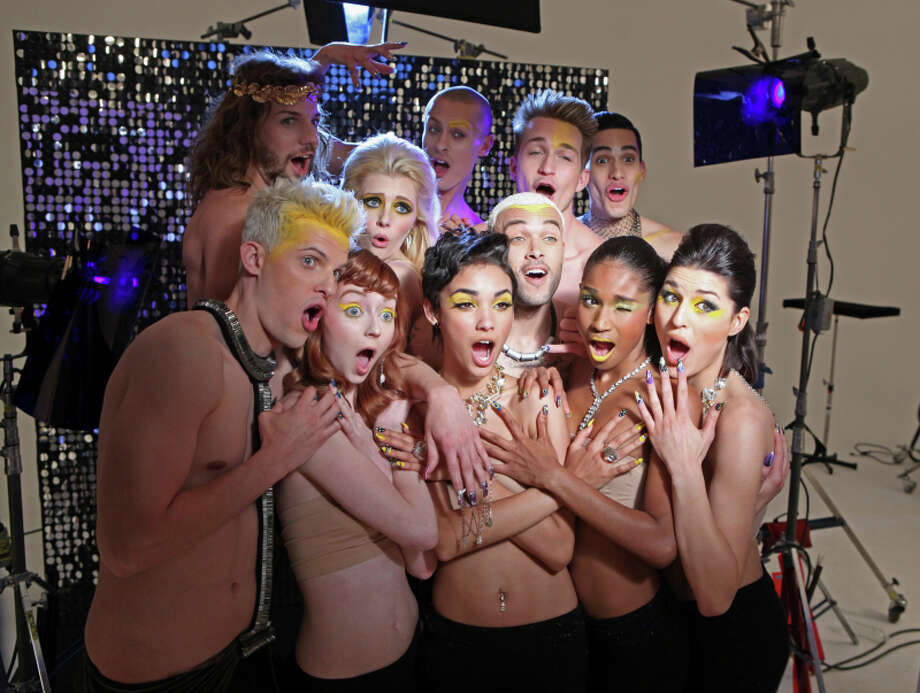 "America's Next Top Model -- ""The Girl Who's Scared of Clown""  pictured left to right: (first row) Chris H.,Nina, Kanani, Don, Renee, Jiana (second row) Phil, Jourdan, Cory, Jeremy and Marvin Cycle 20 Photo: Patrick Wymore/The CW ©2013 The CW Network, LLC. All Rights Reserved Photo: Patrick Wymore, THE CW / ©2013 The CW Network, LLC. All Rights Reserved"