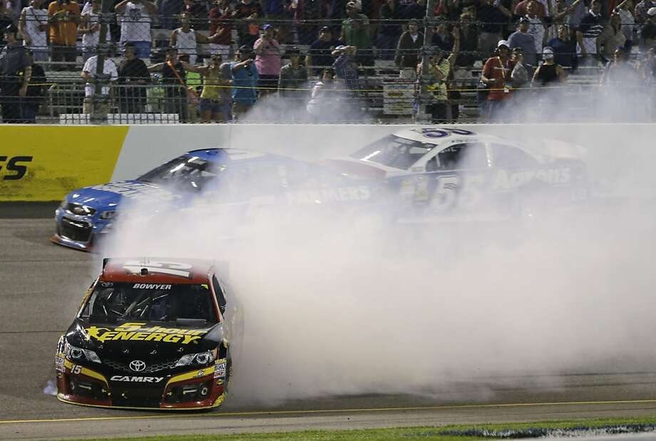 Clint Bowyer says Saturday's spinout that at first cost two drivers Chase berths was not intentional. Photo: Steve Helber, Associated Press