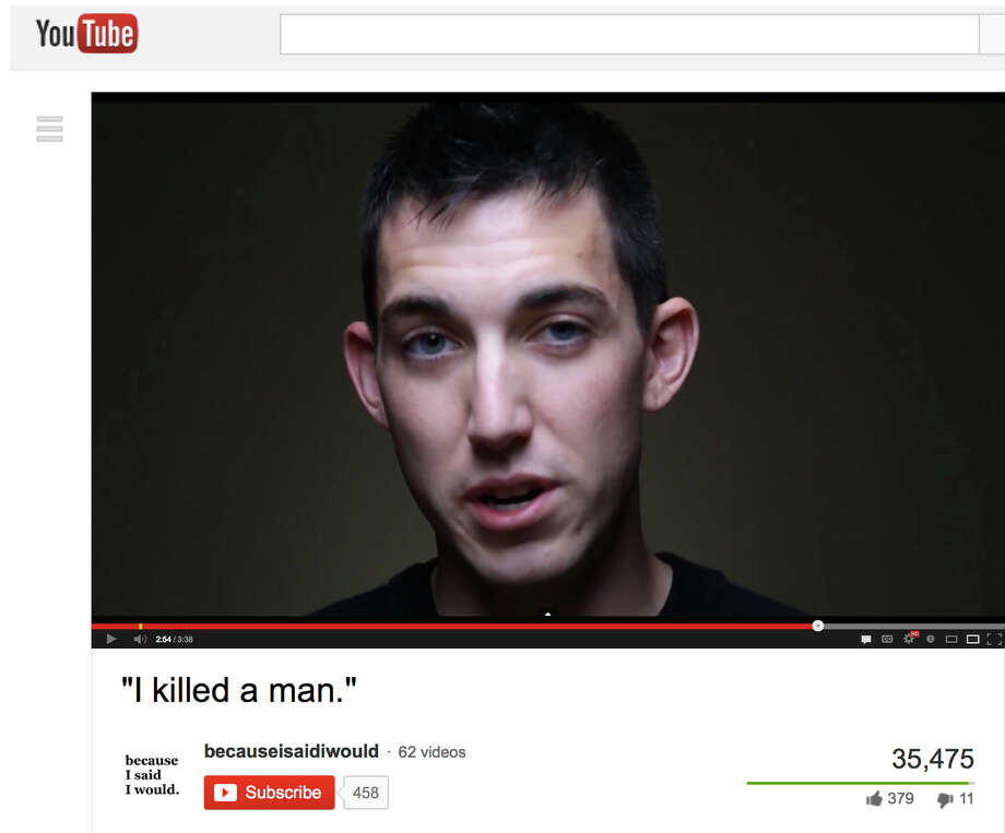 "This video frame grab by Alex Sheen of becauseisaidiwould.com shows Matthew Cordle, who confessed in an online video he's to blame for a car crash that killed a man and says he's willing to take ""full responsibility."" Photo: HONS / becauseisaidiwould.com"