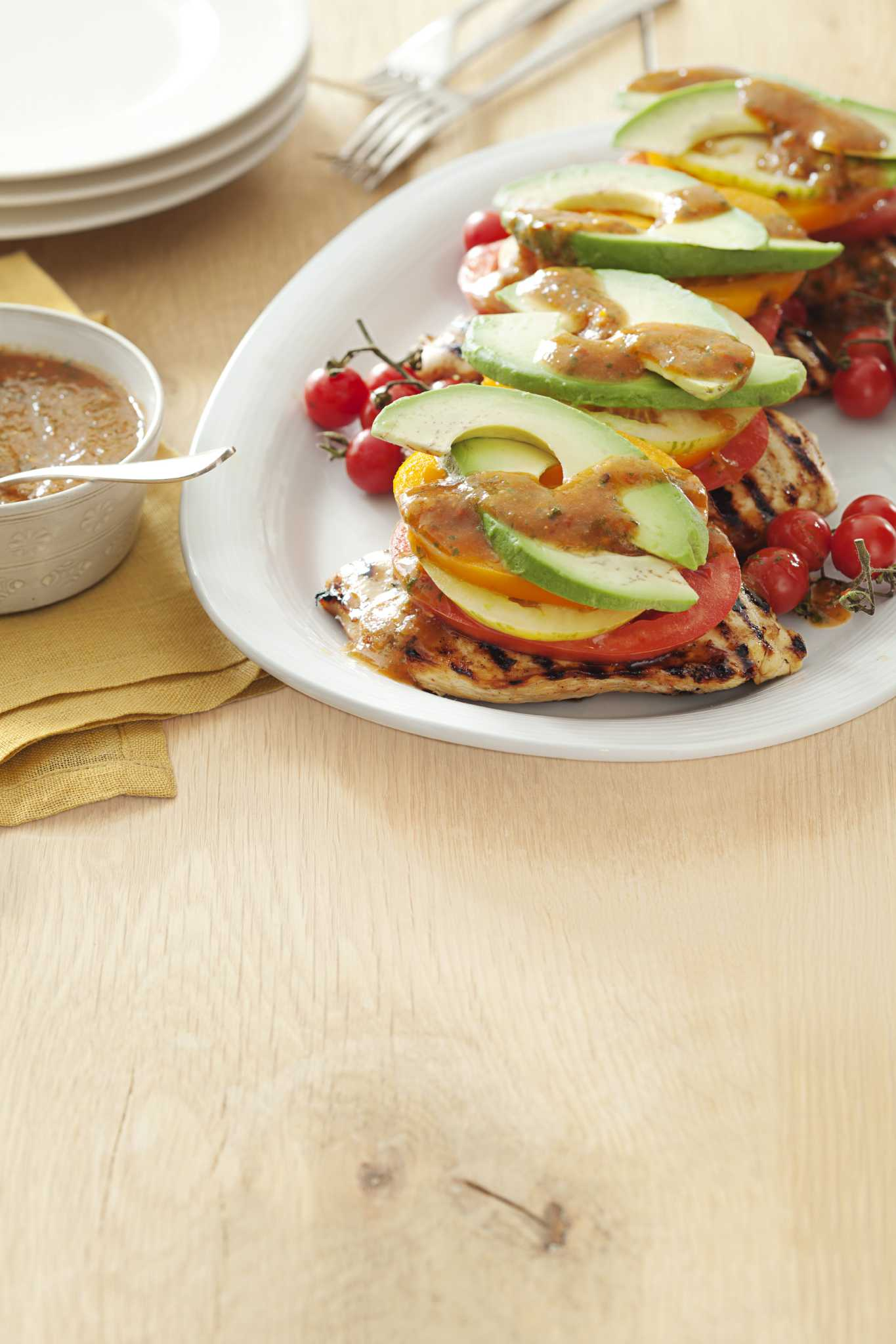 Sweet Chipotle Chicken Stacks