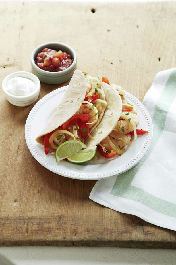 Good Housekeeping recipe for Spicy Shrimp Fajitas. Photo: Kate Mathis