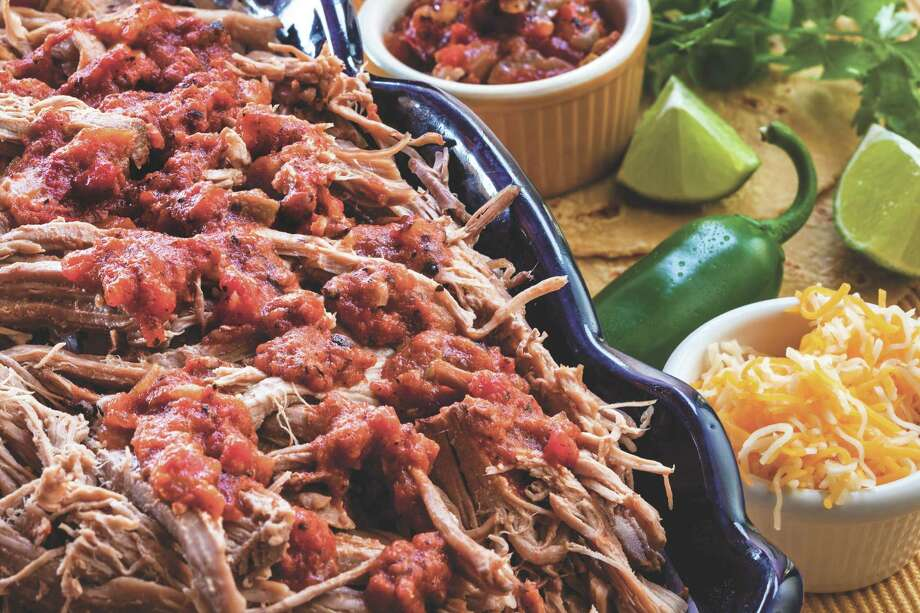 """Pulled Pork Tacos appear in """"Sunday Dinners: Food, Family, and Faith from Our Favorite Pastors"""" by Diane Cowen. Photo: Michael Paulsen, Staff / © 2012 Paulsen Photography"""