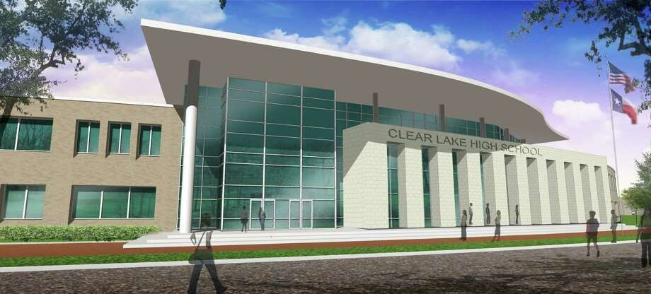 Rendering of proposed Clear Lake High School.