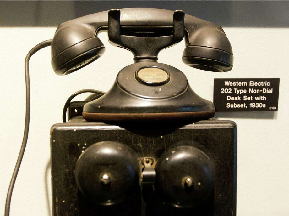 A Western Electric Non-Dial telephone is on display at the AT&T local telephone museum at the AT&T headquarters on Tuesday, Sept. 10, 2013, in Bellaire. Photo: J. Patric Schneider, For The Chronicle / © 2013 Houston Chronicle