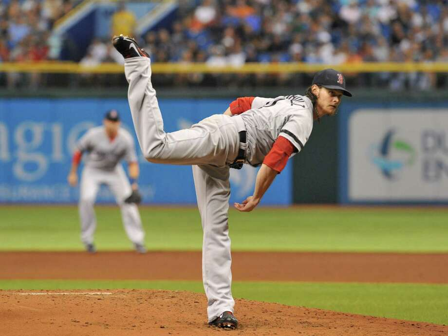 ST. PETERSBURG, FL - SEPTEMBER 10:  Pitcher Clay Buchholz #11 of the Boston Red Sox starts against the Tampa Bay Rays September 10, 2013 at Tropicana Field in St. Petersburg, Florida. (Photo by Al Messerschmidt/Getty Images) ORG XMIT: 163495456 Photo: Al Messerschmidt / 2013 Getty Images
