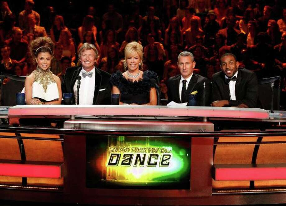 SO YOU THINK YOU CAN DANCE: L-R: Guest judge Paula Abdul, resident judges Nigel Lythgoe, Mary Murphy and guest judges Adam Shankman and tWitch Boss in the season finale episode of SO YOU THINK YOU CAN DANCE airing Tuesday, September 10 (8:00-10:00 PM ET/PT) on FOX. ©2013 FOX Broadcasting Co. Cr: Adam Rose / 1