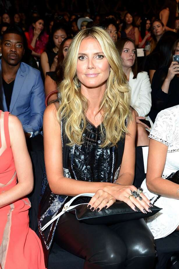 Model Heidi Klum attends the BCBGMAXAZRIA Spring 2014 fashion show during Mercedes-Benz Fashion Week at The Theatre at Lincoln Center on September 5, 2013 in New York City. Photo: Michael Loccisano, Getty Images For Mercedes-Benz Fashion Week