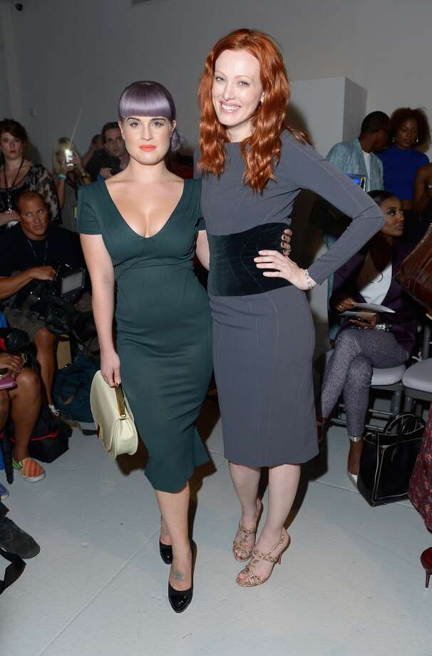 Kelly Osbourne and Karen Elson attend the Zac Posen fashion show during Mercedes-Benz Fashion Week Spring 2014 at Center 548 on September 8, 2013 in New York City. Photo: Michael Loccisano, Getty Images For Mercedes-Benz Fashion Week Spring 2014