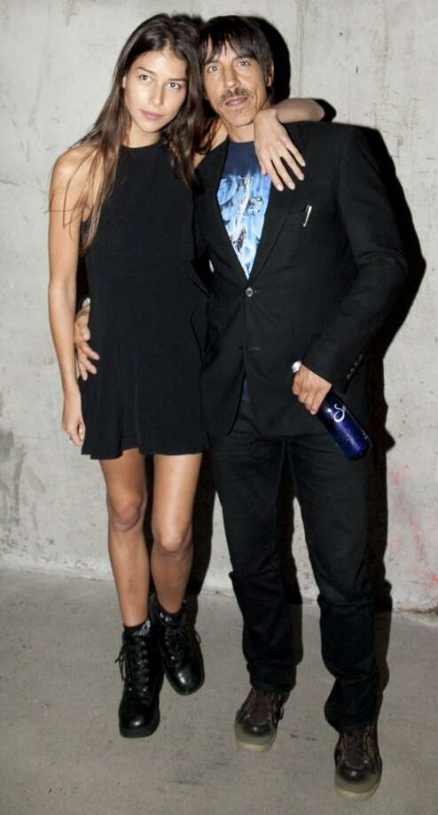 Anthony Kiedis (R) and Helena Vestergaard attend the Edun fashion show during Mercedes-Benz Fashion Week Spring 2014 at Skylight Modern on September 8, 2013 in New York City. Photo: Allison Joyce, Getty Images
