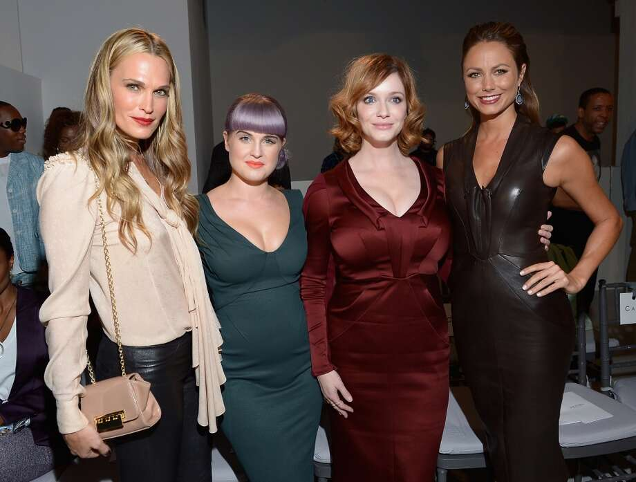 (L-R) Molly Sims, Kelly Osbourne, Christina Hendricks and  Stacy Keibler attends the Zac Posen fashion show during Mercedes-Benz Fashion Week Spring 2014 at Center 548 on September 8, 2013 in New York City. Photo: Michael Loccisano, Getty Images For Mercedes-Benz Fashion Week Spring 2014