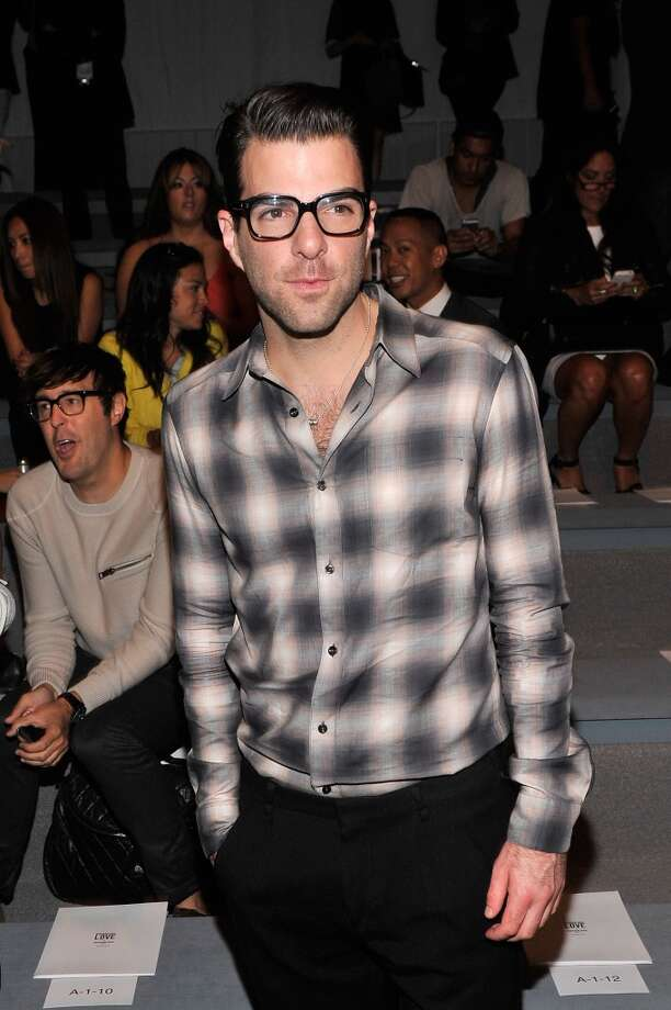 Zachary Quinto attends the Richard Chai Spring 2014 fashion show during Mercedes-Benz Fashion Week at The Stage at Lincoln Center on September 5, 2013 in New York City. Photo: Stephen Lovekin, Getty Images For Mercedes-Benz Fashion Week
