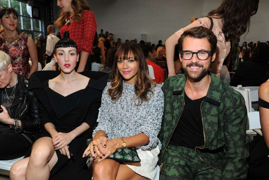 Michelle Lee, Rashida Jones and Brad Goreski attend the Thakoon fashion show during Mercedes-Benz Fashion Week Spring 2014 at Dia Art Foundation on September 8, 2013 in New York City. Photo: Craig Barritt, Getty Images