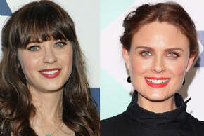 Famous:  Zooey Deschanel.  Famous for her work in `Elf,' `(500) Days of Summer' and Fox's `New Girl.' She's also one half of indie band She & Him with M. Ward.   Less famous:  Emily Deschanel.  Less famous for her own Fox show, `Bones.'