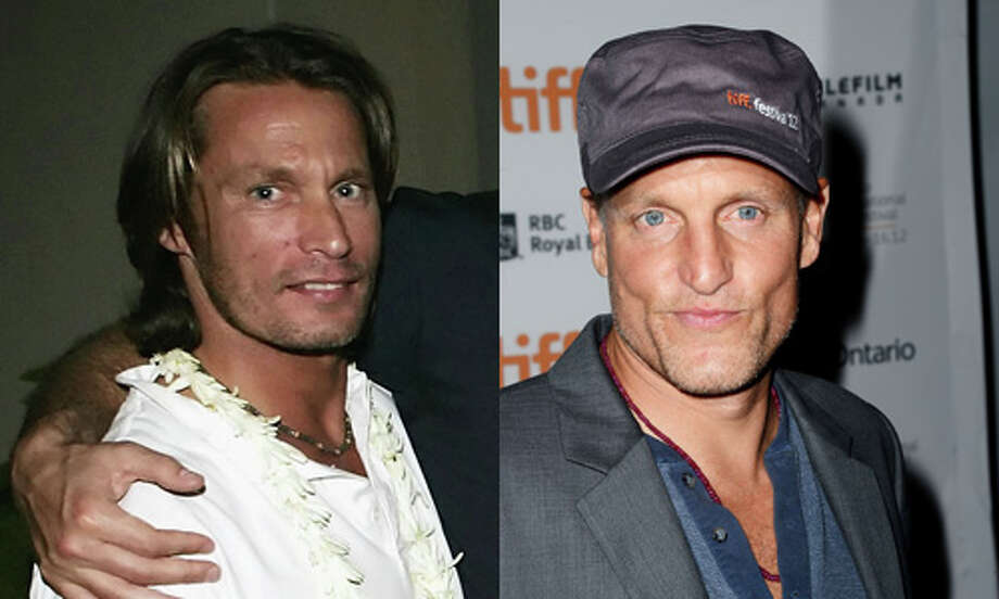 Famous: Woody Harrelson (right).  Famous for `Cheers' and Oscar-nominated roles in `The Messenger' and `The People vs. Larry Flynt.'   Less famous: Brett Harrelson.  Less famous for `From Dusk Till Dawn 2: Texas Blood Money.' Photo: Getty Images