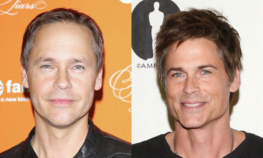 Famous: Rob Lowe (right).
