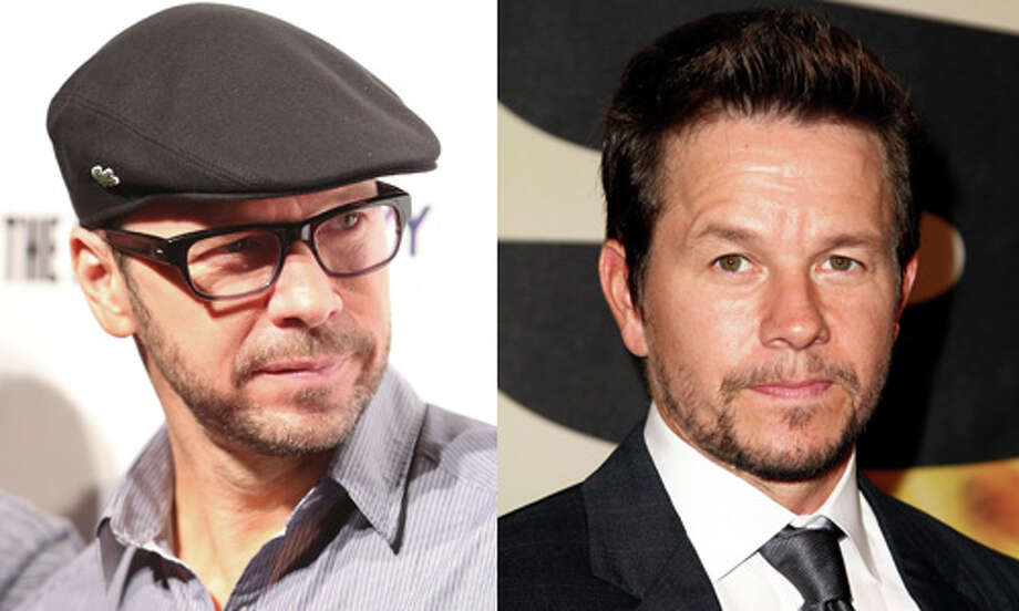Famous: Mark Wahlberg (right). 