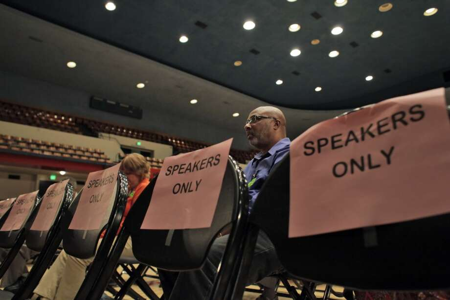 Morris LeGrande was one of the few remaining residents who stayed through all the public comment and final vote on the eminent domain measure during a city council meeting on Tuesday, September 10, 2013, in Richmond, Calif. Photo: Carlos Avila Gonzalez, The Chronicle