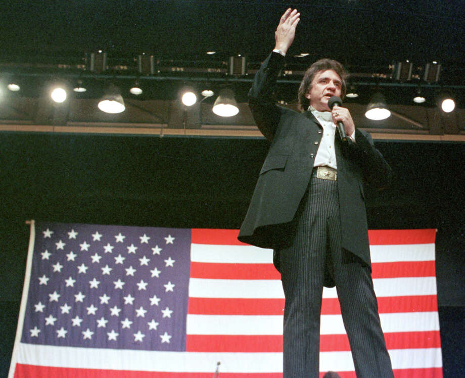 Country music legend Johnny Cash is shown in this Oct. 1986, file photo in Jackson, Tenn. Photo: MARK HUMPHREY, AP / AP