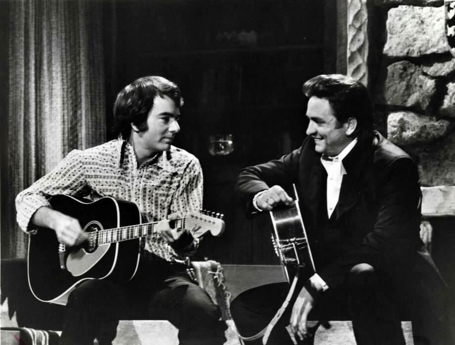 Neil Diamond and Johnny Cash on The Johnny Cash Show, 1970. Photo: ABC / handout