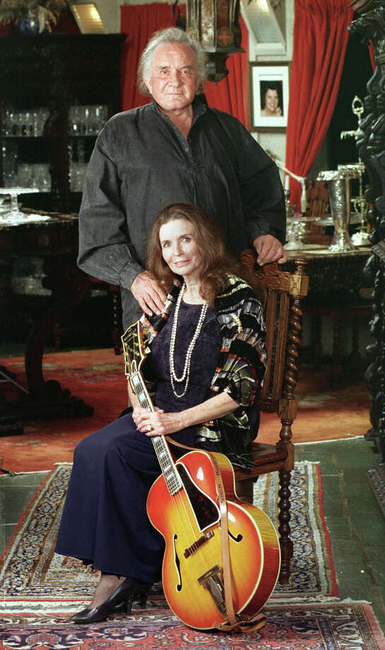 Country music legend Johnny Cash is shown with his wife, June Carter Cash, in their Hendersonville, Tenn. home in 1999. Photo: MARK HUMPHREY, AP / AP