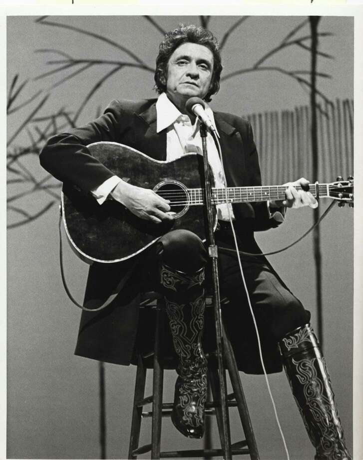 """Country music star Johnny Cash sings some old favorites, and some new songs as well, on his hour-long entertainment special, """"The Johnny Cash Spring Special,"""" 1979. Photo: CBS / handout"""