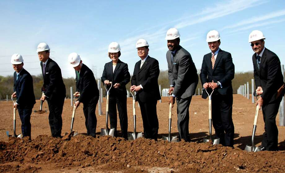 Energy executives and city leaders break ground for a OCI plant in March. CPS Energy still has has not disclosed details of its OCI contract. Photo: File Photo, San Antonio Express-News / ©2013 San Antonio Express-News