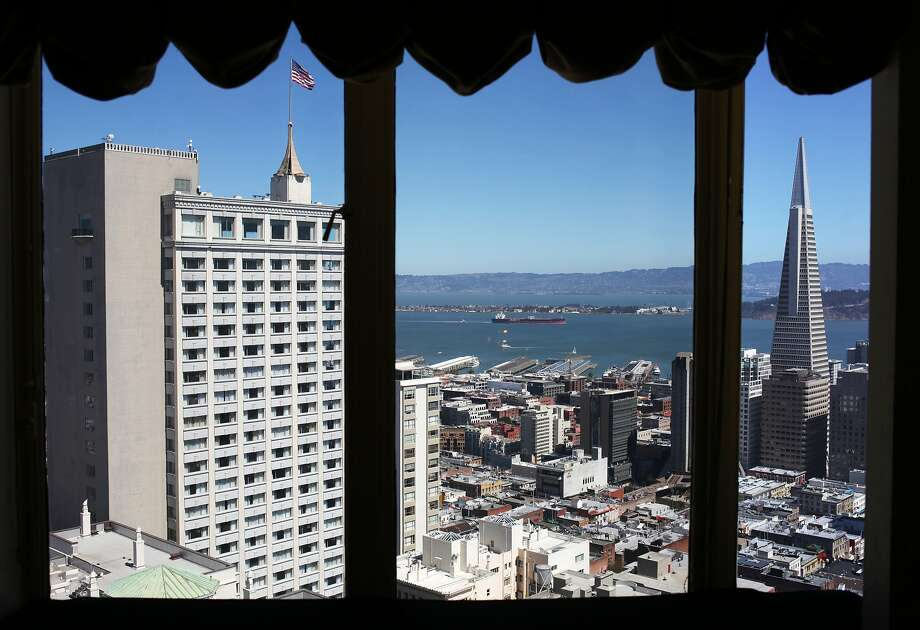 The skyline of San Francisco, including the Transamerica Pyramid, is seen from the Top of the Mark restaurant on September 5, 2013 in the Nob Hill area of San Francisco, Calif. Photo: Pete Kiehart, The Chronicle