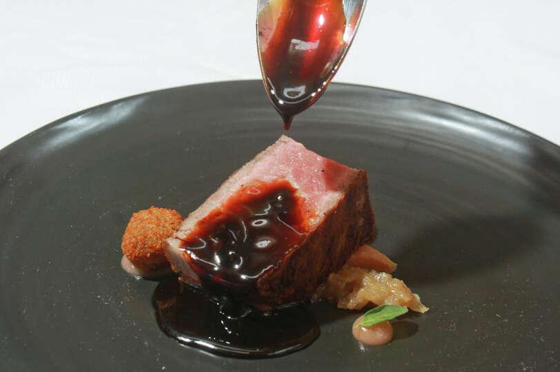 5. Tony's  Cuisine: Italian  Dish: bistecca with rhubarb and balsamic beef jus