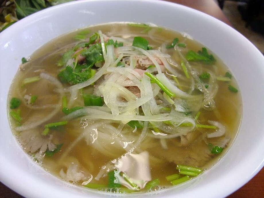 14. Pho Binh Trailer Cuisine: Vietnamese  Dish: Pho Tai Nam Gau with crispy fat  Entree price range: $  Where: 10928 Beamer  Phone: 281-484-3963  Website:  phobinh.com   Read Alison Cook's review of Pho Binh.  Photo: Alison Cook