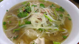 14. Pho Binh Trailer    Cuisine: Vietnamese  Dish: Pho Tai Nam Gau with crispy fat  Entree price range: $  Where: 10928 Beamer  Phone: 281-484-3963  Website:   phobinh.com     Read Alison Cook's review of Pho Binh.