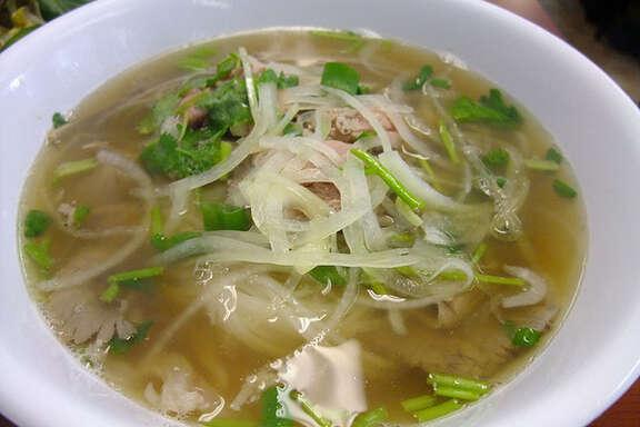 14. Pho Binh Trailer    Cuisine: Vietnamese  Dish: Pho Tai Nam Gau with crispy fat  Entree price range: $  Where: 10928 Beamer  Phone: 281-484-3963  Website:   phobinh.com     Read Alison Cook's review of Pho Binh.