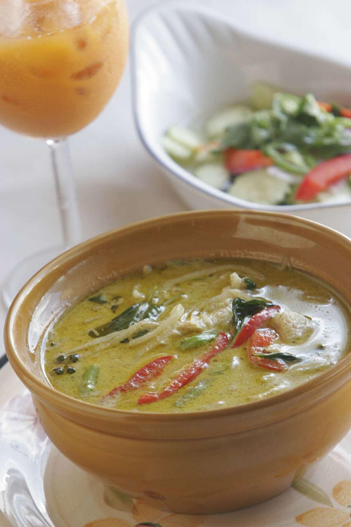 Vieng Thai Cuisine: Thai Dish: Gang Keau Wan Entree price range: $$ Where: 6929 Long Point, Spring Branch Phone: 713-688-9910