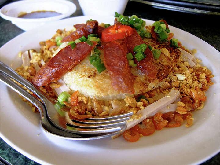 Huong Cuisine: VietnameseDish: sticky rice cake with Chinese sausage ...